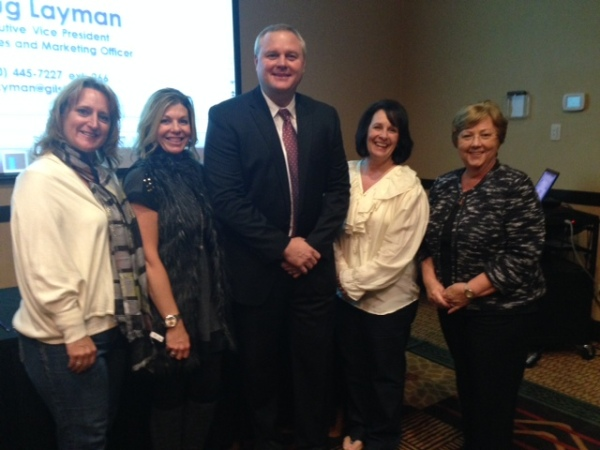 Darlene Kracht of the Valley Schools Employee Benefits Trust (VSEBT), Sheri Gilbert, VSEBT, Doug Layman, Gilsbar, Terri Fischer, Littleton Elementary School District and Carol Priborsky, Paradise Valley Unified School District